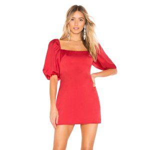 .NEW Lovers + Friends Suri Mini Dress Red .04